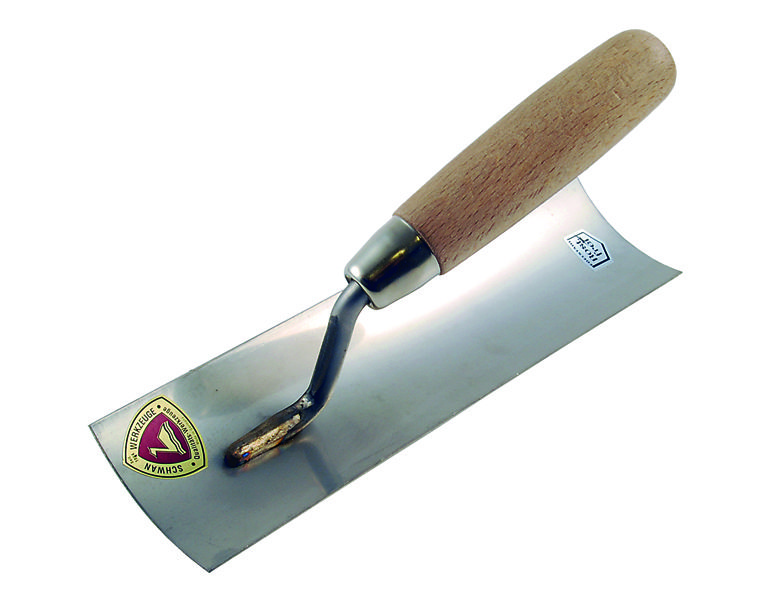Profile Trowel / curved blade / stainless